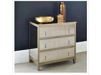Feather & Black Gatsby Chest of Drawers