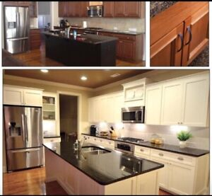 Custom kitchen cabinet and cabinet refacing serves