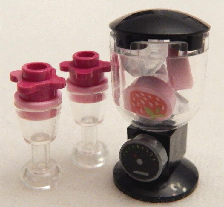 NEW LEGO BLENDER strawberry smoothie food minifig minifigure kitchen appliance