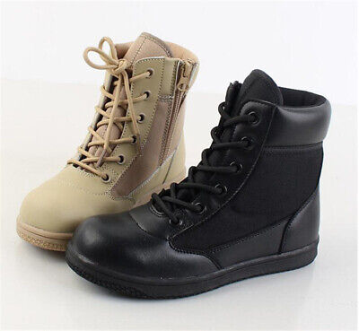 Kids Child Boys Girls Tactical Combat Boots High Top Military Army Hiking Shoes