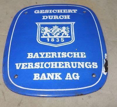altes Emailschild Bayerische Versicherungs Bank