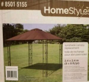 8x8 ft Chocolate Brown Gazebo Canopy Cover