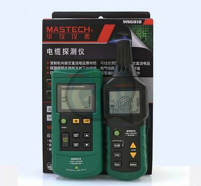 Ms6818 12v-400v Wire Cable Locator Metal Pipe Detector Tester Line Tracker