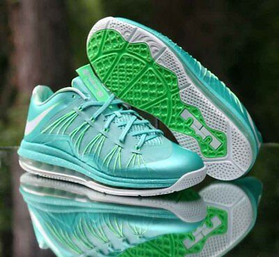 sale retailer bb850 14745 Nike Air Max LeBron 10 X Low Easter Crystal Mint Green 579765-300 Men s  Size 10