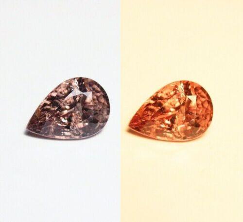 1.63ct Champagne Colour Change Garnet - Rare Pear Cut Gem - Tanzania
