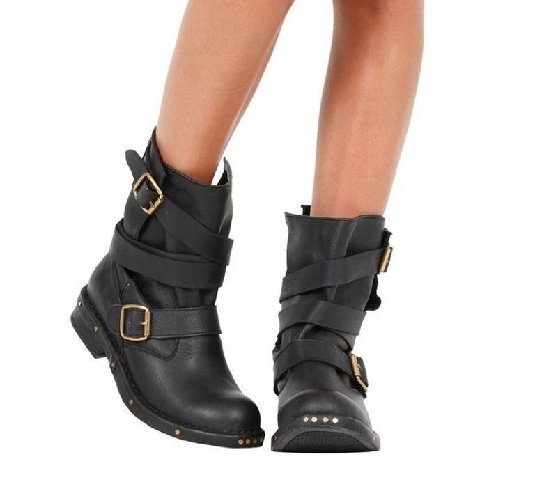 how to buy leather biker boots ebay