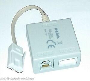 Adsl adapter ebay hq d link dsl 35mf adsl broadband telephone cable micro filter splitter adaptor freerunsca Gallery