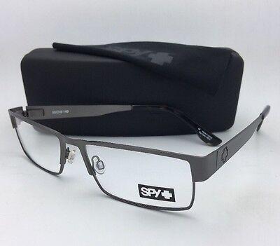 New SPY Optic Eyeglasses ELIJAH 55-16 Rectangular Gunmetal Frame w/Spring Hinges