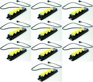 10 x MultiPrise Schuko 4 Ports Câble 1,4 m, Adapté pour