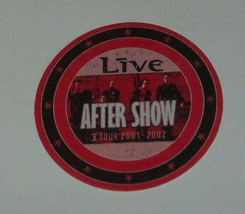 UNUSED OTTO SATIN CONCERT AFTER SHOW BACKSTAGE PASS LIVE V TOUR 2001 - 2002