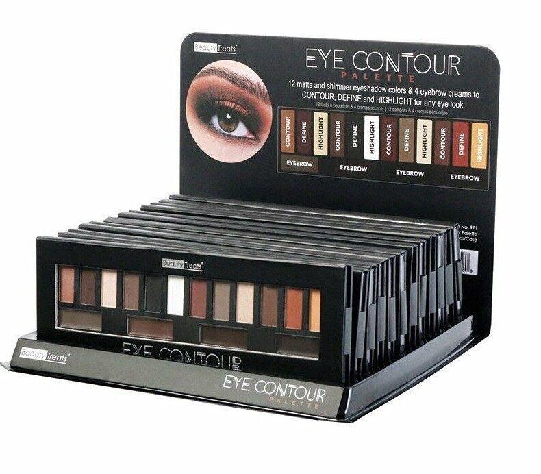 Beauty Treats Eye Contour Palette 12 Matte Shimmer Eyeshadow