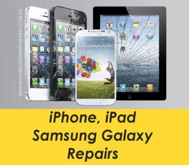 iPhone Screen Repair 7 6s 6 5 5s 5c iPad 2 Air Fix Perth Galaxy