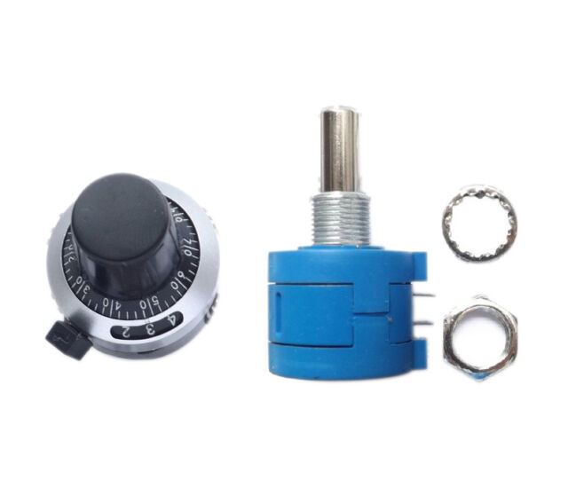 10K Ohm 3590S-2-103L Potentiometer + 10 Turn Counting Dial Rotary Knob Hot Sale