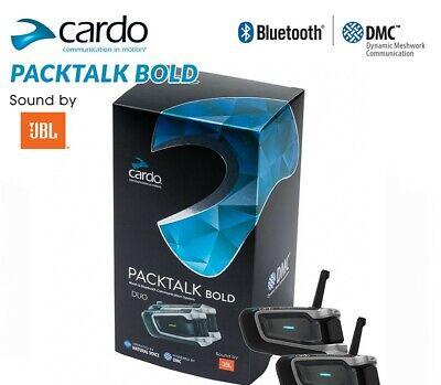 CARDO PACKTALK BOLD DUO BLUETOOTH INTERCOM w/JBL SPKRS CRAZY DEAL!! SHIPS FREE!!