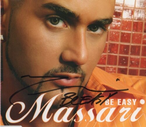 """Massari Autogramm signed CD-Cover """"Be Easy"""""""
