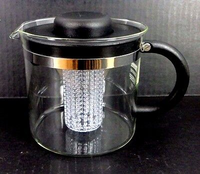 MELIOR GLASS INFUSER TEAPOT KETTLE INFUSER 4 CUPS