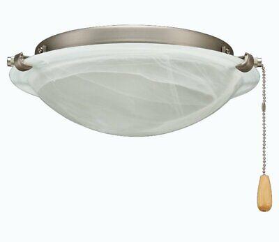 Ceiling Fan Light Kit w/LED Bulbs Alabaster Bowl Brushed Nickel Royal Pacific Alabaster Bowl Ceiling Light