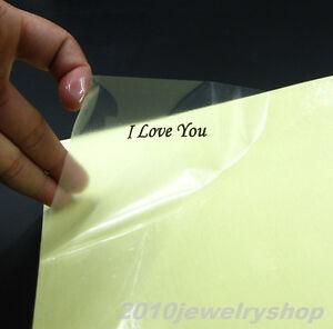 20pcs A4 Clear Transparent Film Adhesive Paper Sticker