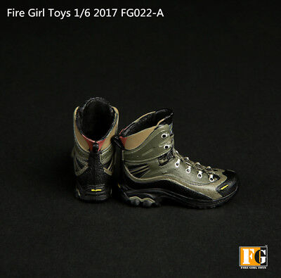 1/6 Scale Fire Girl Toys FG022 Combat Boots For Hot Toys 12in Action Figure