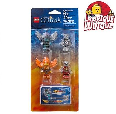 Lego - box pack 4 minifig figurine Chima fire and ice 850913