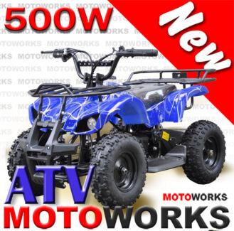 500W ELECTRIC QUAD ATV Bike Motoworks FARM Gokart 4 Wheeler mini