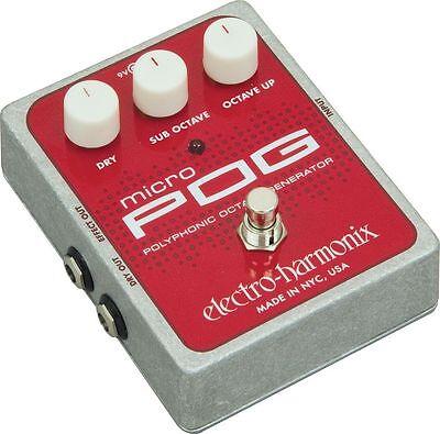 Electro-Harmonix Micro Pog Polyphonic Octave Generator Effects Pedal MicroPog
