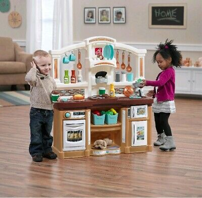 Kitchen Play Set Pretend Baker Kids Toy Cooking Playset Girls Food Gift Step2