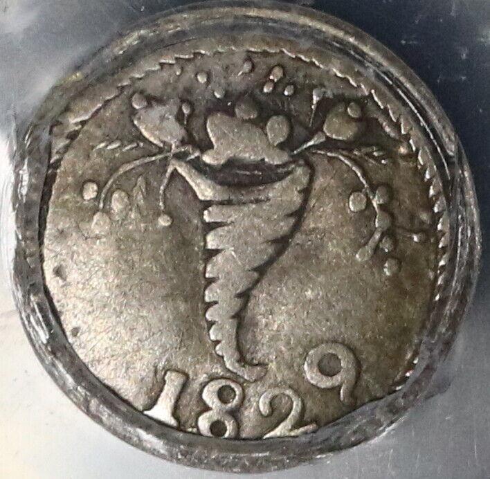1829 PCGS VF 30 Venezuela 1/4  Real Gran Colombia Rare Silver Coin (20050801C)