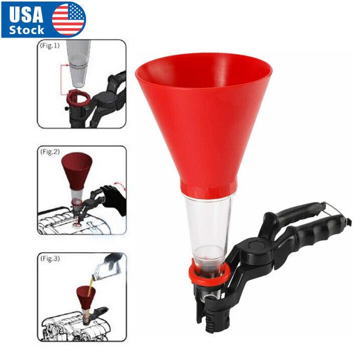 Fuel Oil Funnel Adjustable For Gasoline Engine Car Auto Motorcycle Automotive Automotive Tools & Supplies