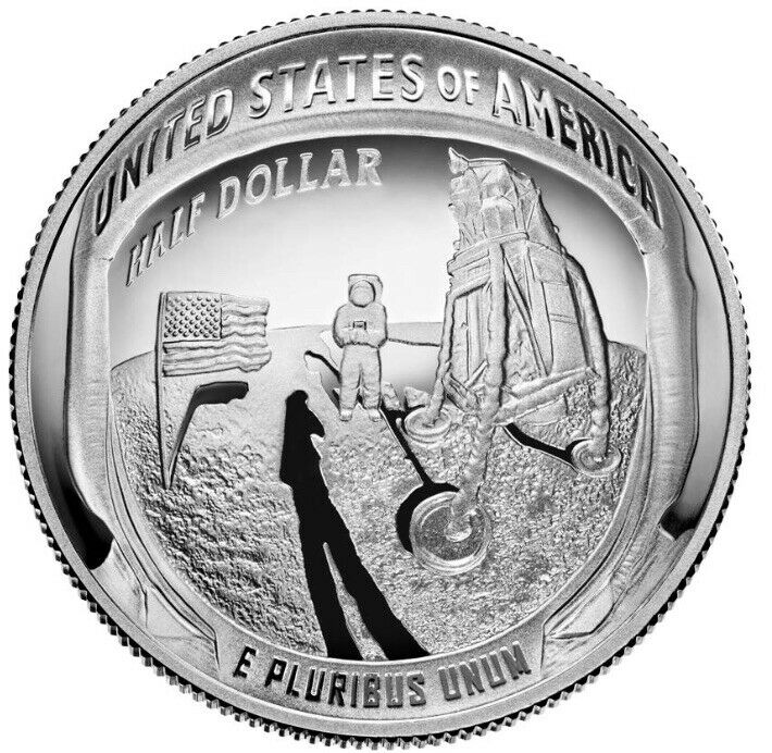 2019 S Apollo 11 50th Anniversary Proof Half Dollar in Original Capsule