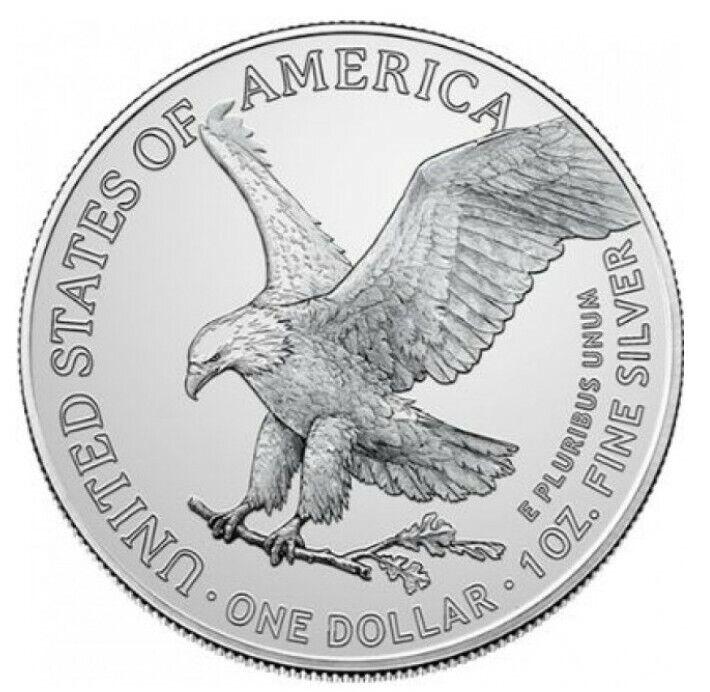 2021 Silver American Eagle 1 oz Silver TYPE II Capsuled - PRESALE - BU Coin
