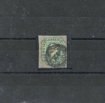 PORTUGAL - 1853 50 rs verde amarelo, D. MARIA II, 32 - OEIRAS