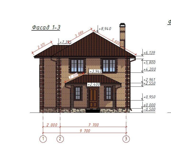 """210,5 sq meters – 690/'-7/"""" sq feet Two-floor house plan 4 Bedroom 2 Bath PDF"""