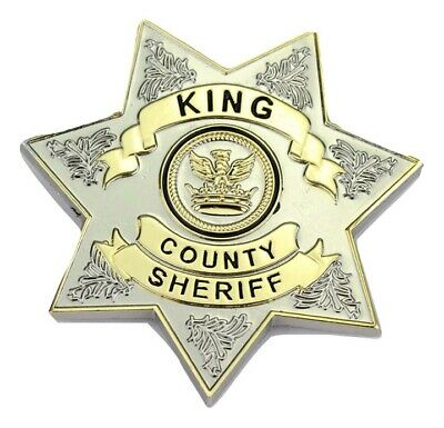 THE WALKING DEAD King County Sheriff Badge Rick Grimes Cosplay/Costume/Fancy - Sheriff Rick Grimes Kostüm