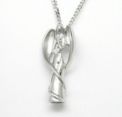Silver Angel Cremation Urn Necklace || Ashes Keepsake || Memorial Jewelry Memorial Angel Urn