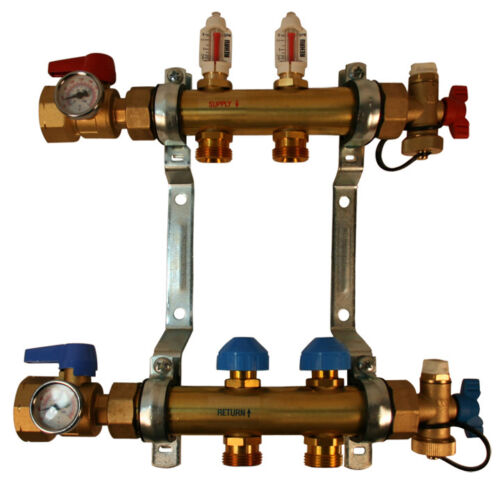 REHAU PRO-BALANCE Radiant Floor Heat Manifold for PEX Pipe - 2 Circuit