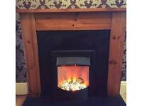 Complete fire place with electric fire can deliver tel 07808222995