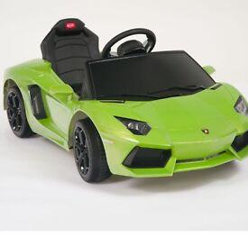 Kids ride on Lamborghini electric green