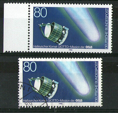 GERMANY 1986 HALLEYS COMET COMMEMORATIVE STAMPS MNH & VFU
