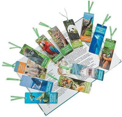 Laminated Endangered Animal Bookmarks  (48 Pack) Stationery