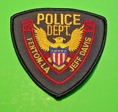 "FENTON  LOUISIANA  LA  JEFF DAVIS  4""  POLICE PATCH  FREE SHIPPING!!!"