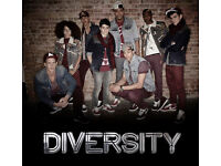 Diversity @ The o2 Friday 14th April - Below Face Value