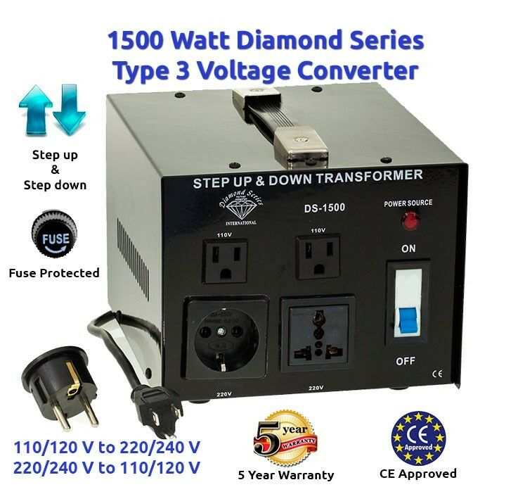 Diamond Series 1500 Watt Step Up/Down Voltage Converter Transformer