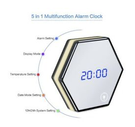 Mirror alarm clock BRAND NEW