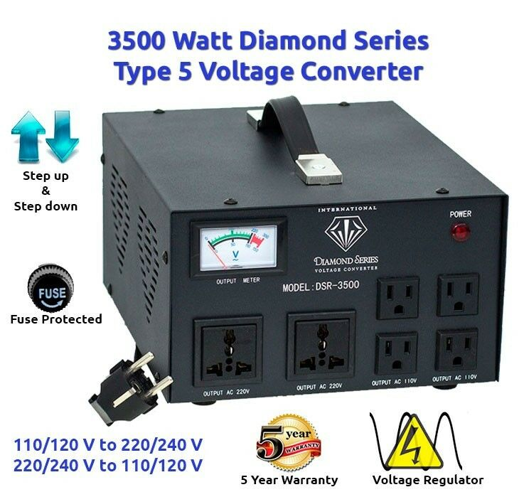 Diamond Series DSR-3500 w/ Regulator Watt Step Up/Down Voltage Converter