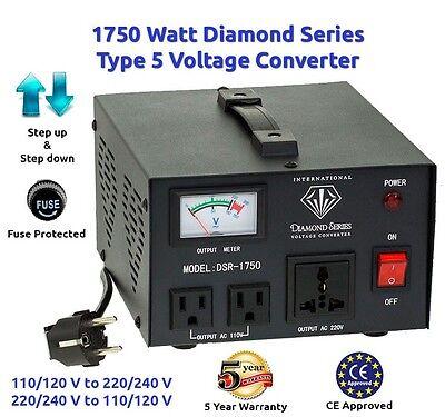 Diamond Series 1750 Watt Step Up/Down Voltage Converter Transformer w/ Regulator