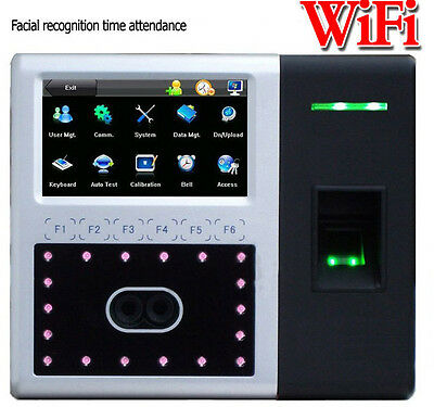Built-in Wireless Wifi+TCPIP Biometric Face Time Track Attendance Clock System