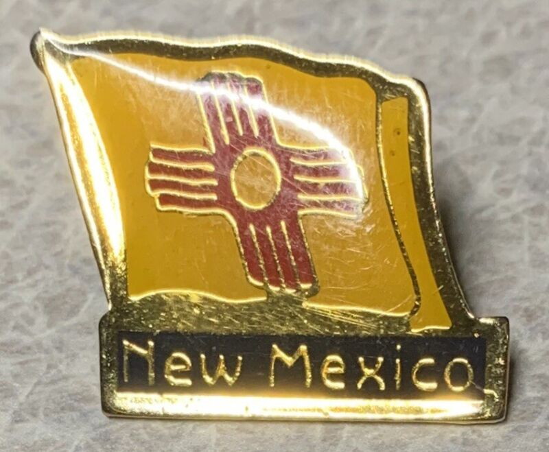 NEW MEXICO State Flag Lapel Hat Pin    [B]
