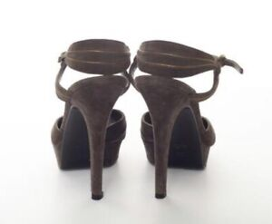 VINTAGE GUCCI Brown & Gold Suede Strap Pumps TOM FORD COLLECTABLE North Sydney North Sydney Area Preview