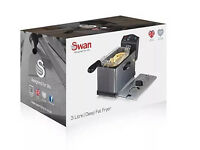 NEW Swan SD6040 Stainless Steel Fryer with Viewing Window 3 Litre, Brand New Sealed